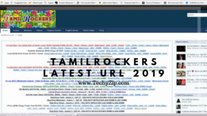 homepage of the tamilrockers featured image