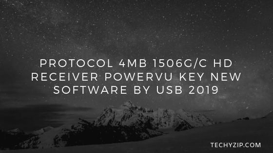 Protocol 4MB 1506G/C HD Receiver POWERVU Key New Software By