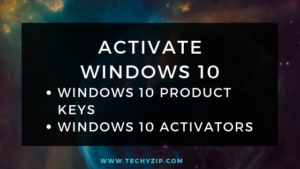windows 10 activator and product keys
